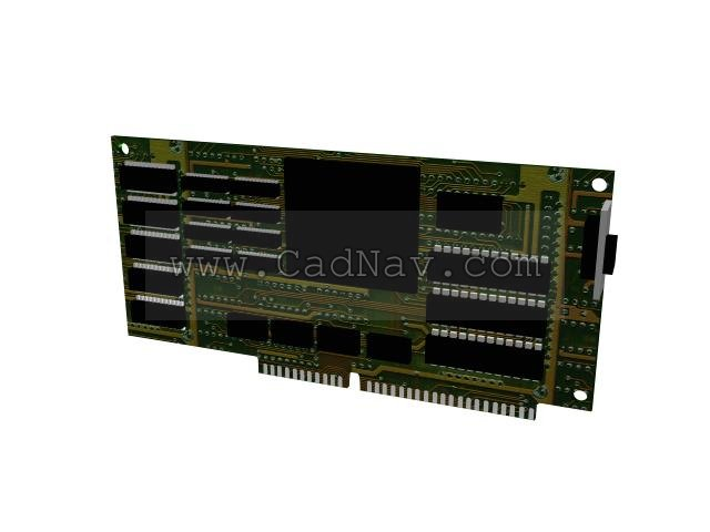 Graphic display card 3d rendering