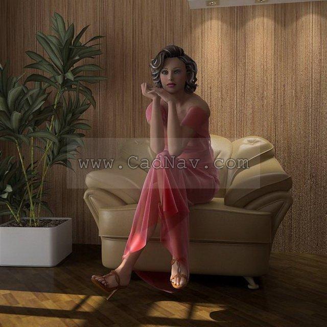 Sexiest Women 3d rendering