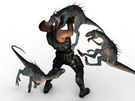 Turok Dinosaur Hunter Game Scene 3d model preview