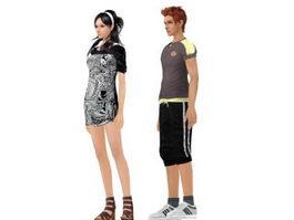 Fashion model Mannequin 3d preview