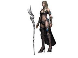 Elf Priestess 3d preview