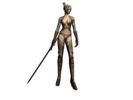 ZerA 3D MMORPG Woman Warrior 3d preview