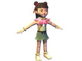 Nezha mythological person 3d model preview