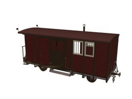Railway carriage 3d preview