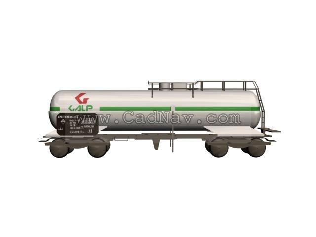 Freight train tank car 3d rendering