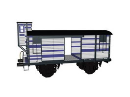 Train boxcar 3d preview