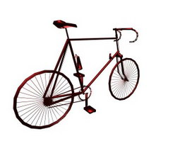 Sports racing bicycle 3d preview