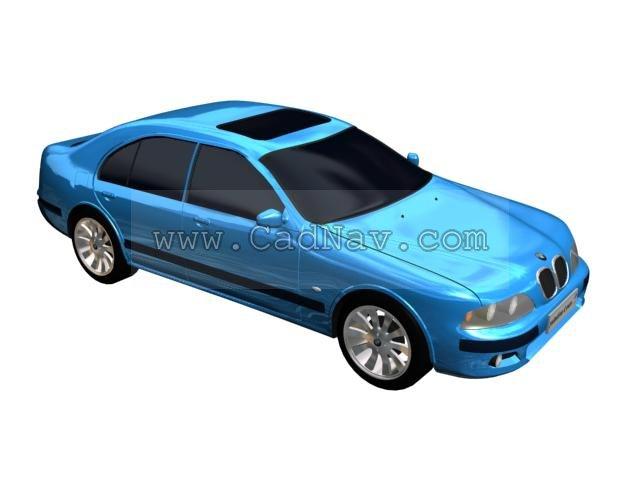 BMW M5 3d rendering
