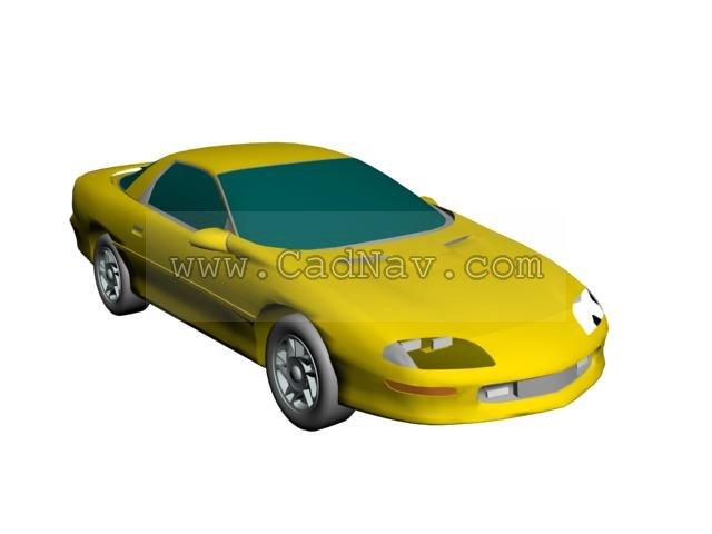 Chevy Camaro 3d rendering