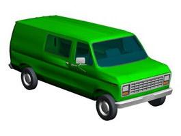 Chevy van 3d model preview