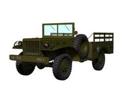 Dodge WC-51 Jeep 3d model preview