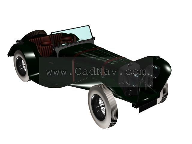 Jaguar 1930 3d rendering