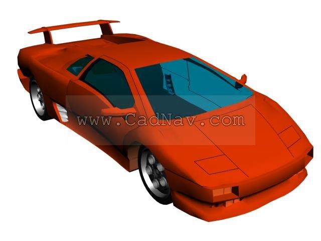 Lamborghini Diablo 3d rendering