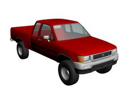 Toyota HiLux Pickup 3d model preview