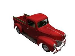 Ford light truck 3d model preview