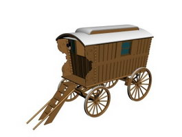 Gipsy Wagon 3d model preview
