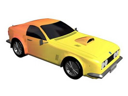 Pony Muscle Car 3d model preview