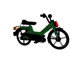 Moped electrical bicycle 3d model preview
