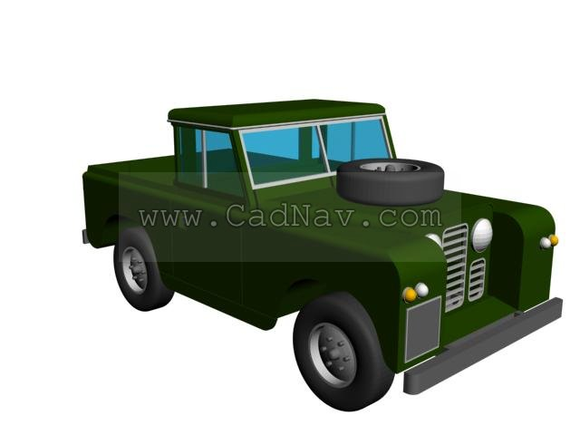 Small pickup 3d rendering