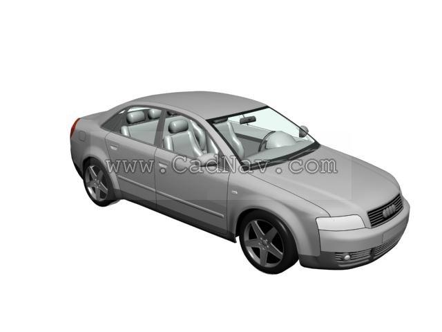 Audi A4 3d rendering