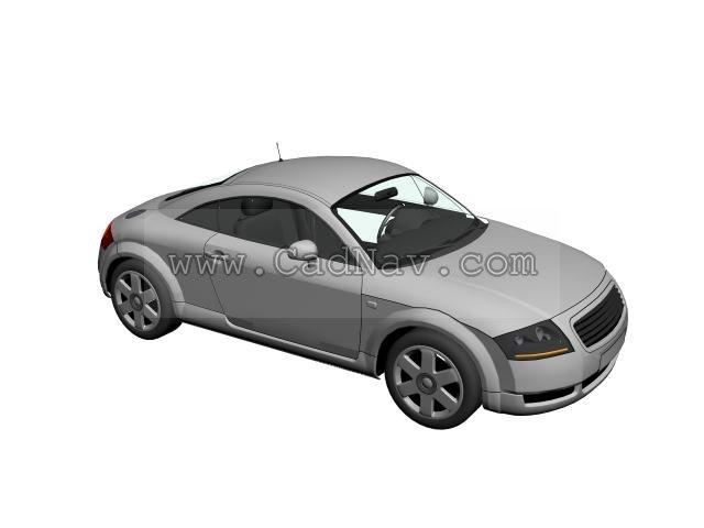 Audi TT Roadster 3d rendering