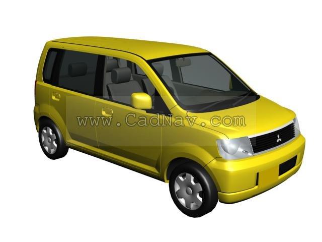 Mitsubishi Ek Wagon 3d rendering