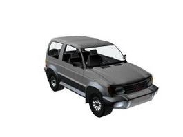 Mitsubishi Montero 3d model preview