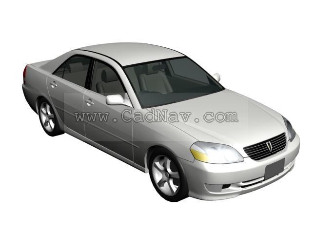 Toyota Mark II 3d rendering