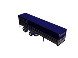 Semi trailer 3d model preview