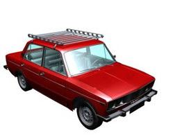 Family car 3d model preview