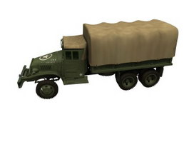 GMC military truck 3d model preview