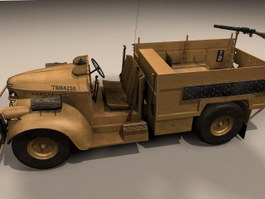 Light Protected Patrol Vehicle 3d model preview