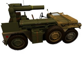 M15A2 Anti-tank missile vehicle 3d model preview