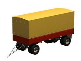 Truck trailer box 3d model preview