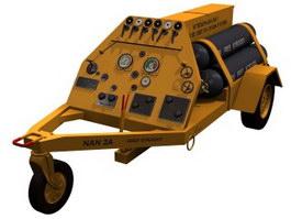 Liquid nitrogen truck 3d model preview