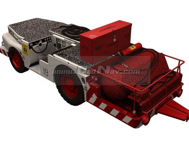 Fire Tractor GPCL fire extinguisher 3d rendering