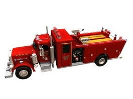 Peterbilt fire truck 3d model preview