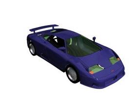 Bugatti EB110 3d model preview