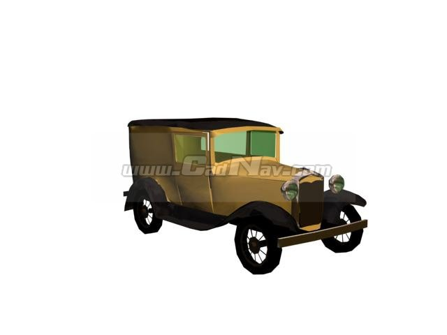 Ford Model A Tudor 3d rendering