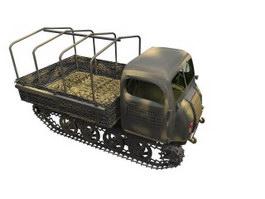 Steyr caterpillar truck 3d model preview