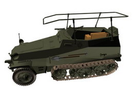 Sd.Kfz.250 Half-track armored personnel carrier 3d model preview