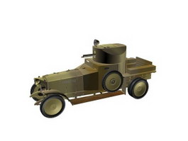 Armoured Patrol Vehicle 3d model preview