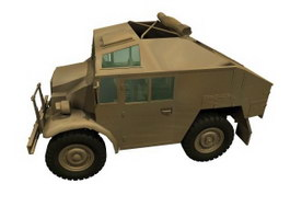 Armoured scout car 3d model preview