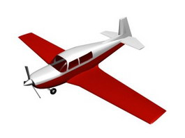 Mooney M20 Personal use civil aircraft 3d model preview