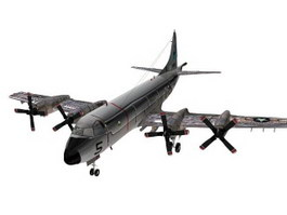 Lockheed P-3 Orion Maritime patrol aircraft 3d model preview