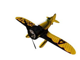 Gee Bee  racing aircraft 3d model preview