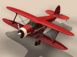 Beechcraft Model 17 Staggerwing Utility aircraft 3d model preview
