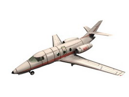 Dassault Falcon 10 Business jet 3d model preview