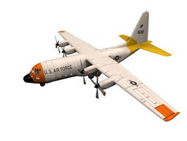 Lockheed C-130 Hercules Military transport aircraft 3d model preview