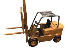 Fork-lift truck 3d preview